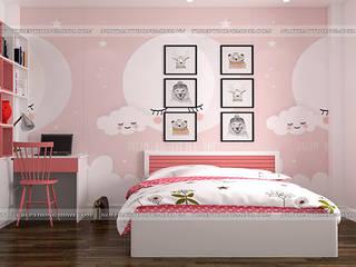 Công trình tủ bếp acrylic và nội thất gỗ An Cường nhà chị Yến – Số 3 Ngõ 2 Ngọc Lâm, Long Biên Nội thất Hpro BedroomBeds & headboards Multicolored