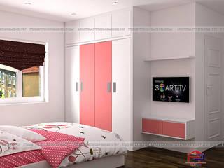 Công trình tủ bếp acrylic và nội thất gỗ An Cường nhà chị Yến – Số 3 Ngõ 2 Ngọc Lâm, Long Biên Nội thất Hpro BedroomWardrobes & closets Multicolored