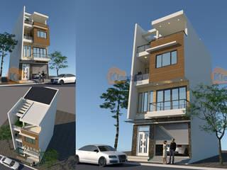 Mẫu nhà phố đẹp 4 tầng chi phí 900 triệu tại Chương Mỹ – NP 136 bởi CÔNG TY CỔ PHẦN XD&TM KIẾN TẠO VIỆT Hiện đại
