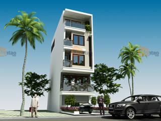 Thiết kế nhà phố 5 tầng đẹp 4,8x14m ở Cao Bằng – NP 135 bởi CÔNG TY CỔ PHẦN XD&TM KIẾN TẠO VIỆT Hiện đại
