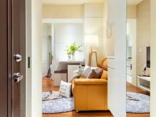 沙瑪室內裝修有限公司 Couloir, entrée, escaliers minimalistes