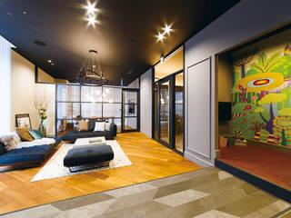 SHOWCASE_住宅_01 オリジナルな 壁&床 の WhO オリジナル