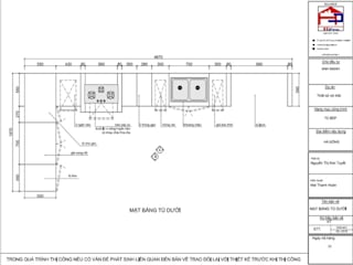 Hpro thi công tủ bếp gỗ xoan đào tân cổ điển nhà anh Mạnh ở Hà Đông: Châu Á  by Nội thất Hpro, Châu Á