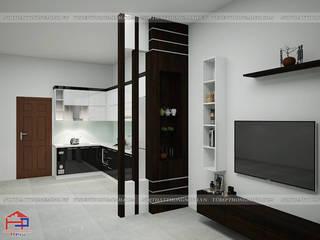 Công trình tủ bếp acrylic và nội thất gỗ An Cường nhà anh Thủy – Hải Phòng: hiện đại  by Nội thất Hpro, Hiện đại