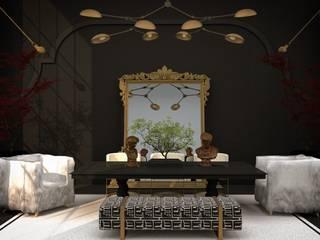 Interıart Factory – 3b salon iç mekan tasarımları | 3d living room interior desing projects: modern tarz , Modern