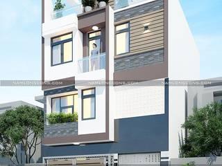Thiết kế nhà rộng 7m dài 11m bởi Nam Long construction
