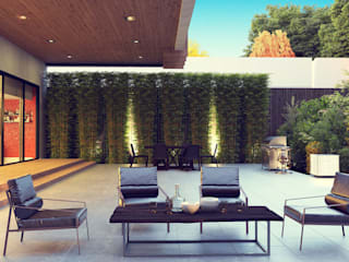 House Backyard - Sitiing Area:  Single family home by Panoviz Studios