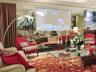 Decoração sala: Salas de estar  por Anne Báril Arquitetura