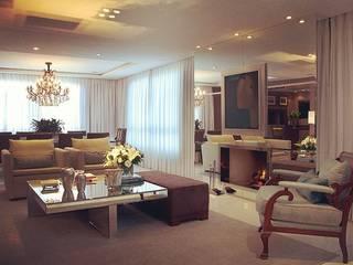 Decoração Apartamento : Salas de estar  por Anne Báril Arquitetura