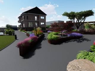 Diseño de jardines en vivienda privada Pontevedra ARomeroPaisajismo Jardines de estilo mediterráneo
