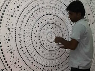Kutchi Lippan Work, Beautiful Mud Mirror Wall Art, Attractive Wall Decoration Ideas, Mud Art Modern walls & floors by City Trend Modern