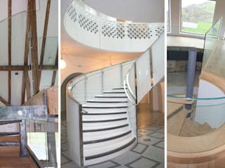 Glass spiral staircase :  Museums by Ion Glass