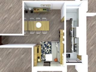 Reforma de apartamento de jovem casal Salas de estar escandinavas por Studio Elã Escandinavo