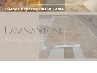 Lamına Stone – LAMINA STONE®-AHC PANEL & LAMINA STONE®-BACKLIT PANEL: modern tarz , Modern