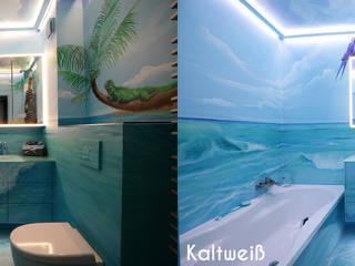 Durch professionelle Lichtplanung - Badezimmer mit Strandfeeling Tropische Badezimmer von Moreno Licht mit Effekt - Lichtplaner Tropisch