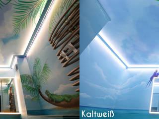 Badezimmer mit Strandfeeling:  Badezimmer von Moreno Licht mit Effekt - Lichtplaner