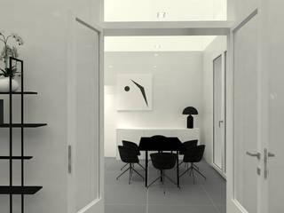 Progettazione cucina bianca in legno laccato: Cucina in stile  di ALFONSI ARCHITETTURA,