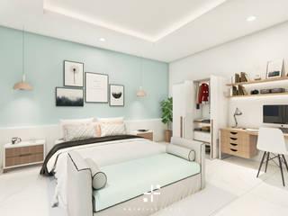 Interior kamar MR. DS Oleh Poin Plus Studio