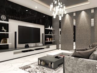 Living Room Mr. T Oleh Poin Plus Studio