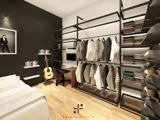 Kamar Tidur Mr. MC Oleh Poin Plus Studio
