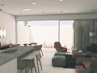 Casa LP Salones modernos de PENCA estudio Moderno