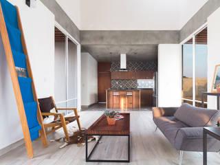 Apaloosa Estudio de Arquitectura y Diseño의  거실, 모던