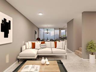 Casa Maderas Salones modernos de Estudio AF Moderno