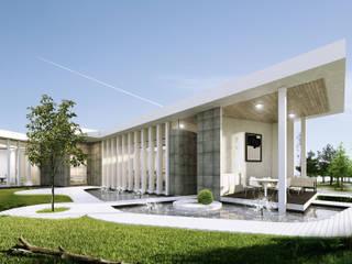 Oficinas corporativas. Edificios de oficinas de estilo moderno de Estudio AF Moderno