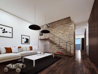 Casa / estudio Juriquilla. Salones modernos de Estudio AF Moderno