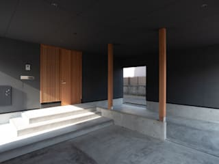 家山真建築研究室 Makoto Ieyama Architect Office Prefabricated Garage Black