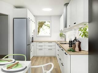 Kuchnia w bieli: styl , w kategorii Kuchnia zaprojektowany przez Projektowanie Wnętrz Online