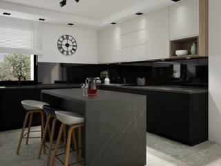 Piękna duża kuchnia z wyspą na środku: styl , w kategorii Kuchnia zaprojektowany przez Projektowanie Wnętrz Online