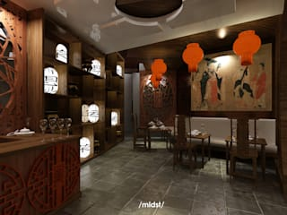 Chinese Restaurant :  Restoran by M I D S T Interiors