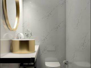 Projeto 3D - casa de banho Casas de banho modernas por Glim - Design de Interiores Moderno