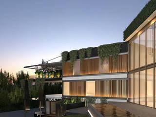 BOSQUE REAL VILLA - CDMX: Villas de estilo  por ADS arquitectos