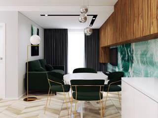غرفة المعيشة تنفيذ Pracownia Projektowa HybriDesign Adelina Czerbak