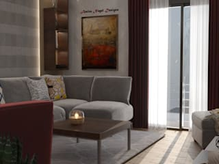 Modern Living Room by AmiraNayelDesigns Modern