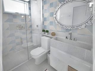 CASA IACANGA Banheiros modernos por BRUNA MARTINS Arquitetura + Interiores Moderno