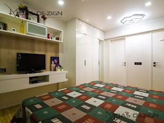 4BHK, Next to Amitabh Bachchan's Bunglow:  Bedroom by Midas Dezign,Modern