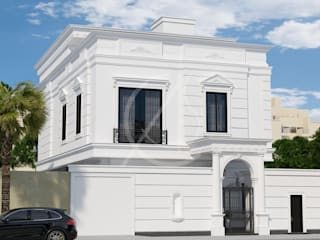 Neoclassical Saudi Arabian House Design:  Houses by Comelite Architecture, Structure and Interior Design