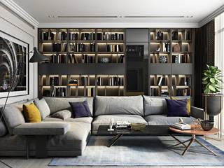 Honor-roll apartment Гостиная в стиле модерн от V.Concept studio Модерн