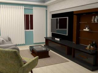 Sala de estar simples com moveis planejados:   por Junior Motta Arquitetura