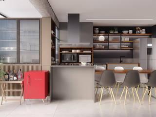 من Ana Guedelha Arquitetura e Interiores صناعي