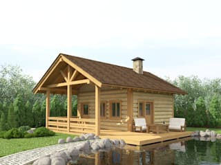 Rustic style house by Альберт Галимов Rustic