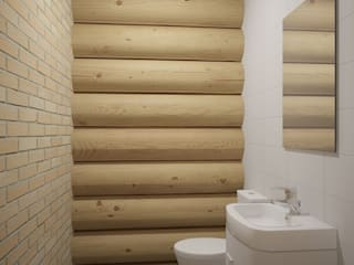 Rustic style bathroom by Альберт Галимов Rustic