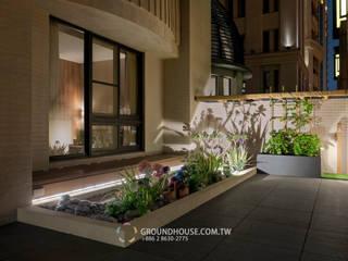 燈光與樹影交織出美麗的畫面 大地工房景觀公司 花園照明