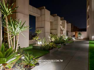 晚間時分的露臺庭院更有情調 大地工房景觀公司 露臺