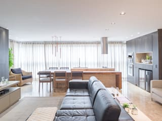 Apartamento MS BEP Arquitetos Associados Salas de estar clássicas
