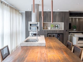Apartamento MS BEP Arquitetos Associados Salas de jantar rústicas