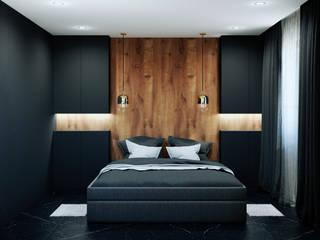 Pracownia Projektowa HybriDesign Adelina Czerbak Dormitorios de estilo moderno